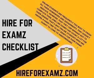 Hire For Examz Checklist